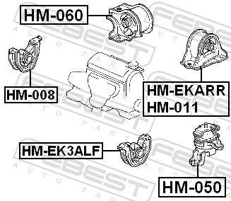 Motor Mount FEBEST HM-008 rating