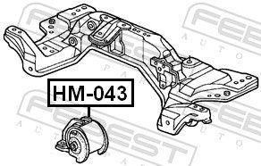Motoraufhängung FEBEST HM-043 Bewertung