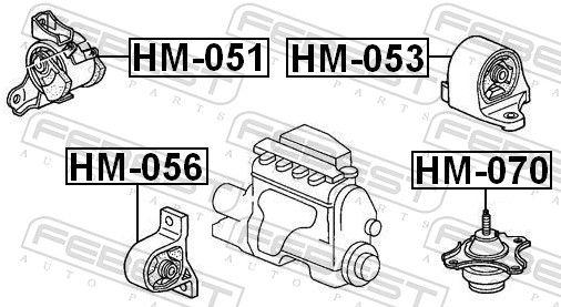 Motor Mount FEBEST HM-070 rating