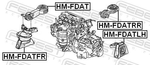 Motoraufhängung FEBEST HM-FDATFR Bewertung