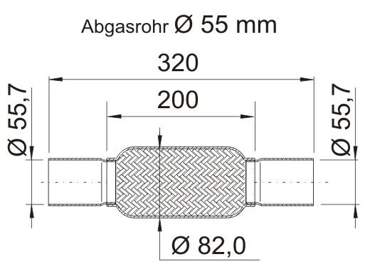 Flexrohr 460118 ERNST 460118 in Original Qualität