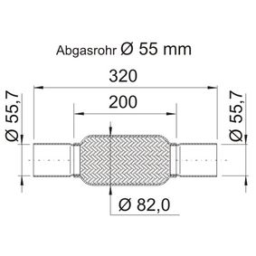 Touran 1t1 1t2 2.0TDI Flexrohr ERNST 460118 (2.0 TDI Diesel 2008 AZV)
