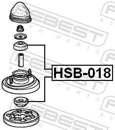 Spacer Bush, shock absorber FEBEST HSB-018 rating