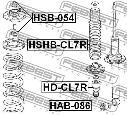 Protective Cap / Bellow, shock absorber FEBEST HSHB-CL7R rating