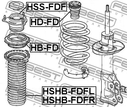 Protective Cap / Bellow, shock absorber FEBEST HSHB-FDFR rating