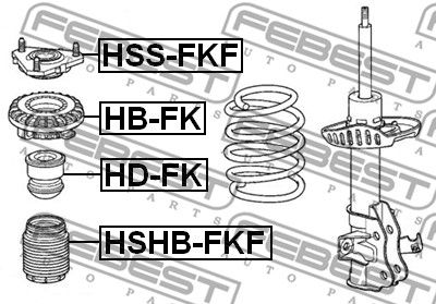 Protective Cap / Bellow, shock absorber FEBEST HSHB-FKF rating