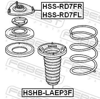 Caperuza protectora / fuelle, amortiguador FEBEST HSHB-LAEP3F evaluación