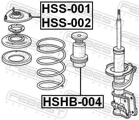 Lagerung, Stoßdämpfer FEBEST HSS-002 Bewertung