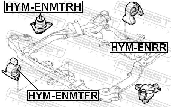 Motor Mount FEBEST HYM-ENMTRH rating