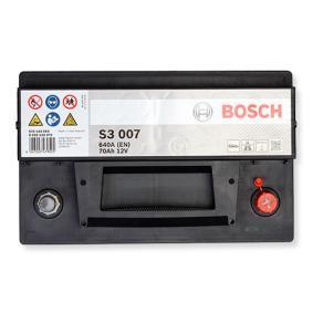 BOSCH Starterbatterie B13 , 70 Ah , 12 V , LB3 , 640 A , Bleiakkumulator