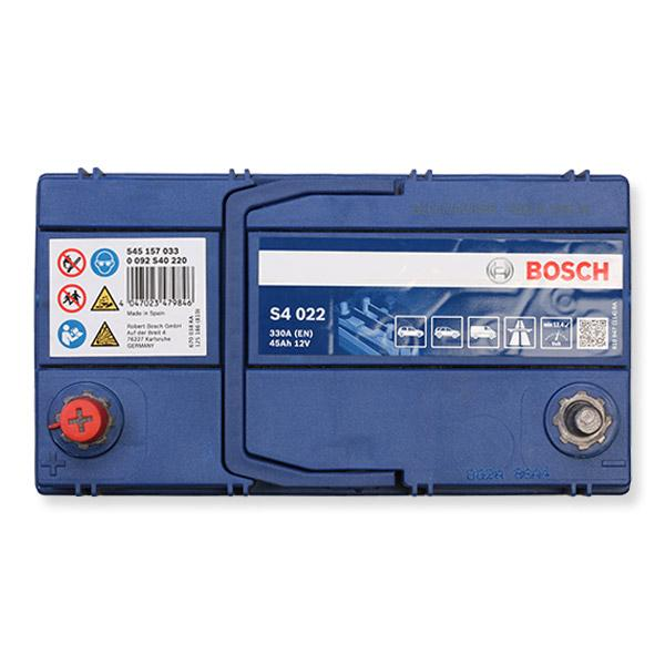 Autobatterie 0 092 S40 220 BOSCH S4022 in Original Qualität