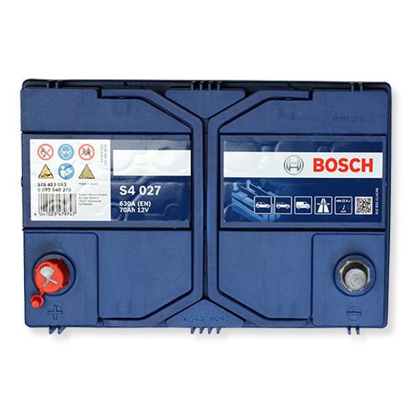 Autobatterie 0 092 S40 270 BOSCH S4027 in Original Qualität