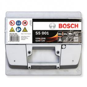 BOSCH Starterbatterie B13 , 52 Ah , 12 V , LB1 , 520 A , Bleiakkumulator