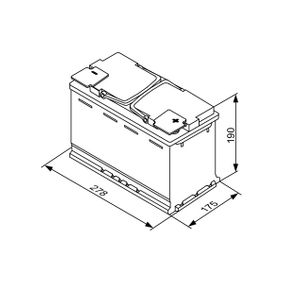 Starterbatterie mit OEM-Nummer 570901076 BOSCH