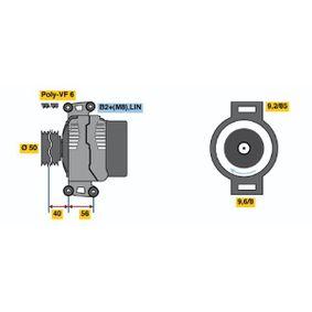 Generator mit OEM-Nummer A 013 154 59 02