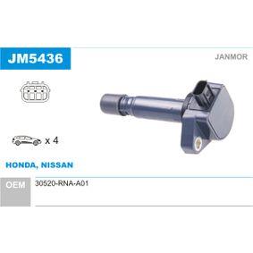 Ignition Coil JM5436 CIVIC 8 Hatchback (FN, FK) 1.8 (FN1, FK2) MY 2016