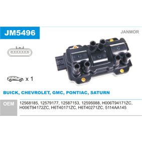 Ignition Coil with OEM Number 12579177