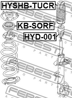 Anti-Friction Bearing, suspension strut support mounting FEBEST KB-SORF rating