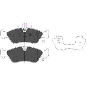 Bremsbelagsatz, Scheibenbremse Breite: 37mm, Dicke/Stärke: 17,4mm mit OEM-Nummer 16 05 808
