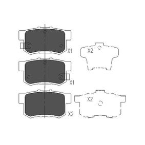 Brake Pad Set, disc brake Width: 43mm, Thickness: 14,9mm with OEM Number 43022S9AE52