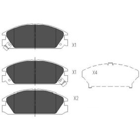 Brake Pad Set, disc brake Article № KBP-2020 £ 140,00
