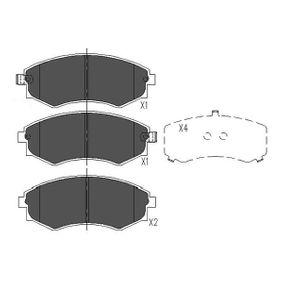Bremsbelagsatz, Scheibenbremse Breite: 48mm, Dicke/Stärke: 16,9mm mit OEM-Nummer 58101-29A20