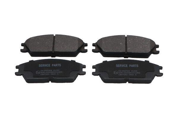 KAVO PARTS  KBP-3028 Bremsbelagsatz, Scheibenbremse Breite: 49mm, Dicke/Stärke: 14,7mm