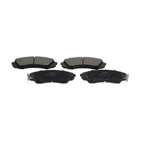 Bremsbelagsatz, Scheibenbremse Breite: 57mm, Dicke/Stärke: 16,5mm mit OEM-Nummer 581014DA00