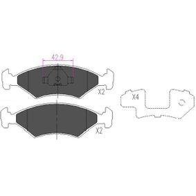Bremsbelagsatz, Scheibenbremse Breite: 41mm, Dicke/Stärke: 18mm mit OEM-Nummer 1064 763