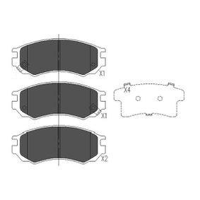 Bremsbelagsatz, Scheibenbremse Breite: 45mm, Dicke/Stärke: 14,9mm mit OEM-Nummer D1060-0N685