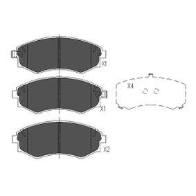 Bremsbelagsatz, Scheibenbremse Breite: 54mm, Dicke/Stärke: 15,6mm mit OEM-Nummer 58101-29A90