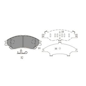 Bremsbelagsatz, Scheibenbremse Breite: 48mm, Dicke/Stärke: 15,8mm mit OEM-Nummer 55810 61M 01