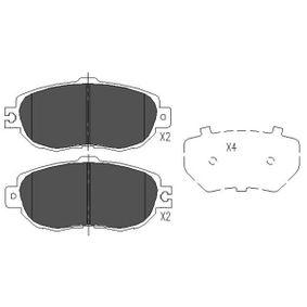 Bremsbelagsatz, Scheibenbremse Breite: 60mm, Dicke/Stärke: 17mm mit OEM-Nummer 04465-50110