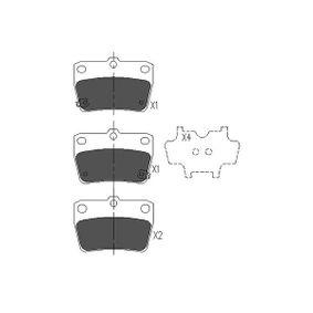 Brake Pad Set, disc brake KBP-9068 RAV 4 II (CLA2_, XA2_, ZCA2_, ACA2_) 2.0 D 4WD (CLA20_, CLA21_) MY 2002
