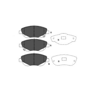 Bremsbelagsatz, Scheibenbremse Breite: 59mm, Dicke/Stärke: 18mm mit OEM-Nummer 04465 05260