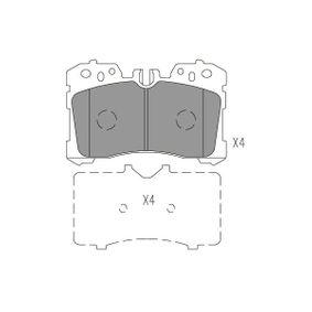 Bremsbelagsatz, Scheibenbremse Dicke/Stärke: 18,3mm mit OEM-Nummer 044650W110