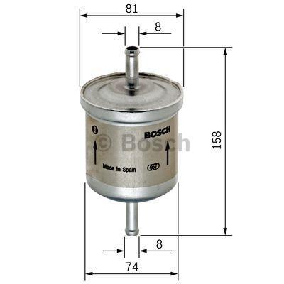 Kraftstofffilter BOSCH F5903 3165142272849