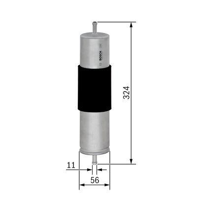BOSCH  0 450 905 950 Kraftstofffilter Höhe: 324mm
