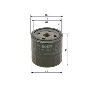 Filtro de aceite 0 451 103 204 Astra G Berlina (T98) 1.8 16V (F69) ac 1999