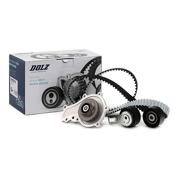 Timing belt and water pump kit DOLZ 06KD085 expert knowledge