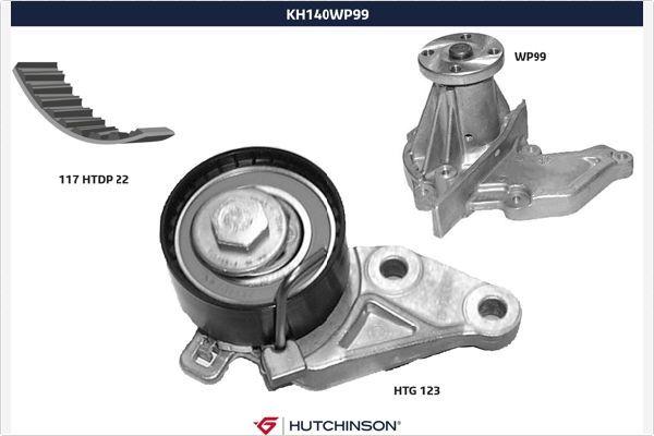 HUTCHINSON  KH 140WP99 Water pump and timing belt kit