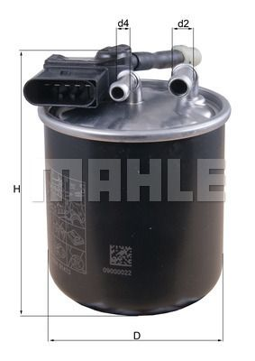 KNECHT  KL 913 Fuel filter Height: 124mm