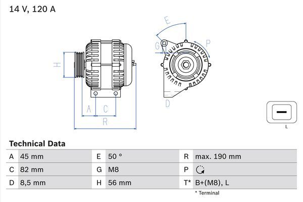 Lichtmaschine 0 986 041 740 BOSCH 4174 in Original Qualität