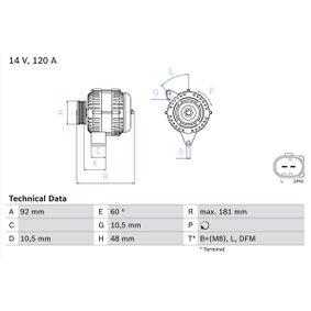 Lichtmaschine mit OEM-Nummer A 0111548402