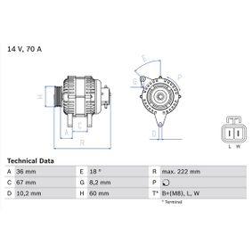 Lichtmaschine mit OEM-Nummer 8971891123