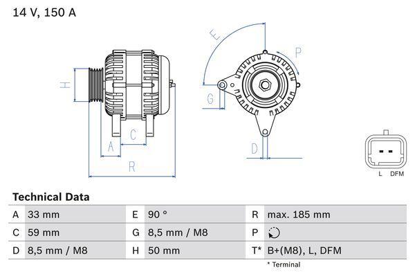 Lichtmaschine 0 986 046 260 BOSCH 4626 in Original Qualität
