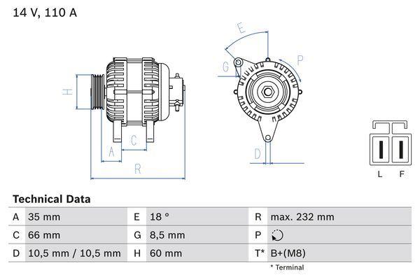 Lichtmaschine 0 986 048 301 BOSCH 4830 in Original Qualität