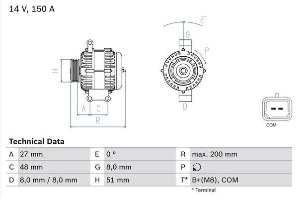 Lichtmaschine 0 986 048 740 BOSCH 4874 in Original Qualität