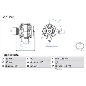 Lichtmaschine mit OEM-Nummer 03D 903 025H