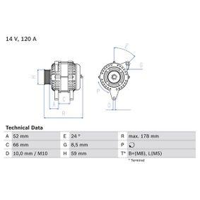 Lichtmaschine mit OEM-Nummer 5 0037 1244